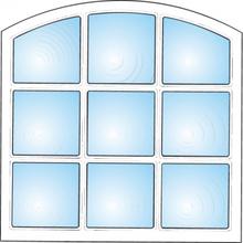 Dekorfönster Stallfönster 9-rutor Modul 12x12