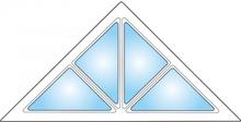 Dekorfönster Trekant med spröjs