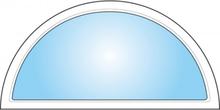 Dekorfönster Halvmåne helglas Modul 10x5