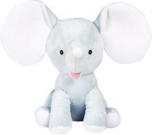 Blå elefant gosedjur med namn, 35 cm
