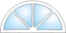 Dekorfönster Halvmåne spröjs Modul 8x4