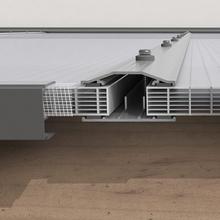 Tak av kanalplast för uterum 16 mm kanalplasttak 3500 mm, 2190 mm
