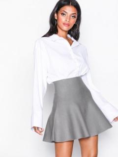 Noisy May Nmcirus Hw Short Knit Skirt Noos Mini nederdele Grå