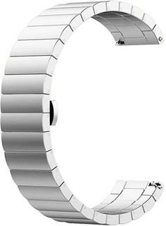 Huawei Watch GT Rustfrit Stål Urrem Med Butterfly Spænde - Sølv