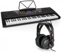 Etude 225 USB Inlärnings-keyboard med Hörlurar 61 Tangenter USB LCD Display