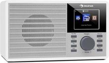 "IR-160 Internetradio WLAN USB AUX UPnP 2.8"" TFT-display fjärrkontroll vit"