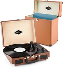 Peggy Sue Record Collector Set brown | Retro Skivspelare | Skiv-väska