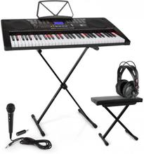 Etude 225 USB Inlärnings-keyboard med Hörlurar, Keyboard-stativ & sittbänk