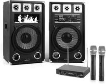 Karaoke anläggning STAR-12A aktiv PA-högtalar-set 2-kanal-trådlöst-mikrofon-set