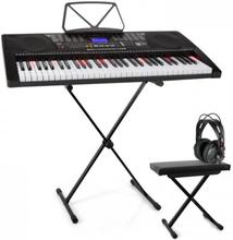 Etude 225 USB inlärnings-keyboard med hörlurar Keyboard-stativ & sittbänk