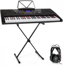 Etude 225 USB inlärnings-keyboard med hörlurar och Keyboard-stativ