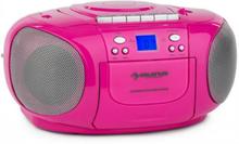 BoomGirl BoomBox Ghettoblaster Radio CD/MP3-Player Kassettbandspelare Rosa