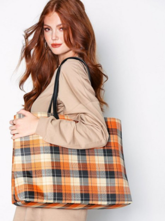 NLY Accessories Check Shopper Bag
