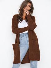 Selected Femme Slflivana Ls Knit Cuff Cardigan Noo Mørk brun
