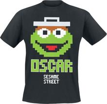Sesam Stasjon - Oscar 8 Bit -T-skjorte - svart