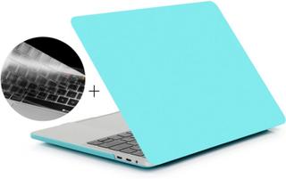 HAT PRINCE Macbook pro 13 no touchbar beskyttelses deksel og tastatur beskyttelse av silikon med matt overflate - turkis