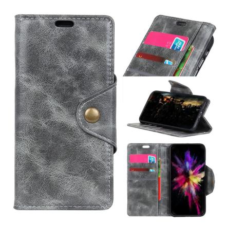 Huawei Honor 10 Lite beskyttelses deksel av syntetisk skinn - grå
