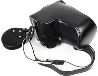 Panasonic Lumix DC-GH5 beskyttelses deksel av syntetisk skinn - svart