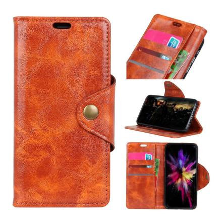 Huawei Honor 10 Lite beskyttelses deksel av syntetisk skinn - oransj
