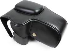 Canon EOS 200D kameraskydd avtagbar rem linsväska syntetläder - Svart