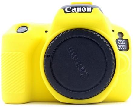 Canon EOS 200D kameraskydd silikonmaterial stötdämpande - Gul