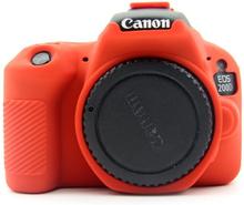 Canon EOS 200D kameraskydd silikonmaterial stötdämpande - Röd