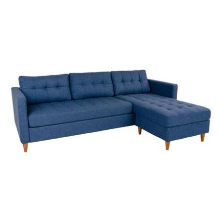 Marino - blå sofa med chaiselong VENDBAR