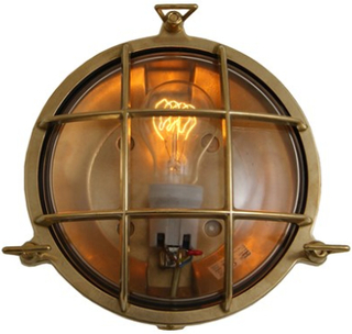 Mullan Lighting Adoo marine nautical vägglampa – Antique brass