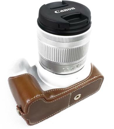 Canon EOS 200D kameran kameraskydd syntetläder - Brun