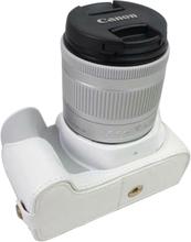 Canon EOS 200D kameran kameraskydd syntetläder - Vit