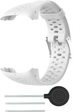 Polar M430 klokkereim av myk silikon - hvit