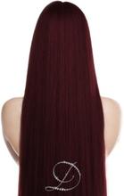 #530 Mörk vinröd, 30cm, Tejphår