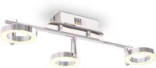 vidaXL LED Vägg-/Taklampa med 3 lampor varmvit