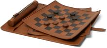 Pelletessuta Leather Checkers Set - Tan
