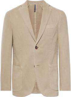 Beige Garment-dyed Cotton And Cashmere-blend Twill Blazer - Neutrals