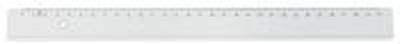 Linjal 20 cm cm/mm-gradering plast 10/FP