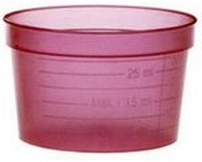 Medicinbägare lock vit plast 48mm 500/FP