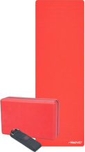 Avento Yogaset i 3 delar Lotus röd 41WZ-ROG-Uni