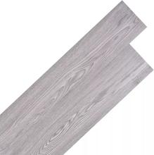 vidaXL Självhäftande PVC-golvplankor 5,02 m² 2 mm mörkgrå
