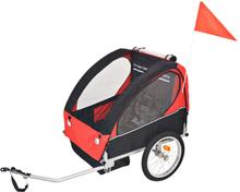vidaXL Cykelvagn för barn röd och svart 30 kg