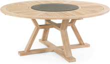 Circus matbord Vitblästrad teak med superstone 180 cm