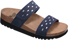 Scholl Damsandal Anette Wedge AD Navy Blue