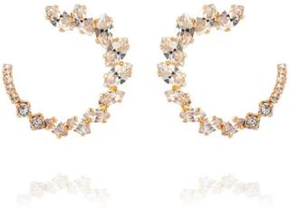 Caroline Svedbom Angie Earrings Gold Crystal