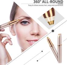 X-LASH Portable Electric Eyebrow Trimmer Mini Makeup Facial Hair Remover Painless Eye Epilator with LED Light