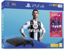 PlayStation 4 Slim Black - 1TB (Fifa 19 Bundle)