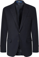 Polo Ralph Lauren - Navy Slim-fit Pinstriped Stretch Cotton And Wool-blend Suit Jacket - Blue - XL,Polo Ralph Lauren - Navy Slim-fit Pinstriped Stretch Cotton And Wool-blend Suit Jacket - Blue - L,Polo Ralph Lauren - Navy Slim-fit Pinstriped Stretch Cotto