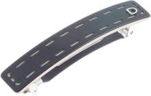 Devisage - Barrette handmade schwarz 7cm