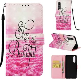 Huawei P30 light spot décor leather flip case - Stay Beautiful