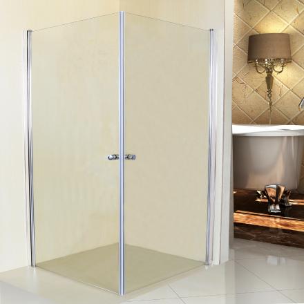 Duschhörna med raka vikbara dörrar-70x70cm