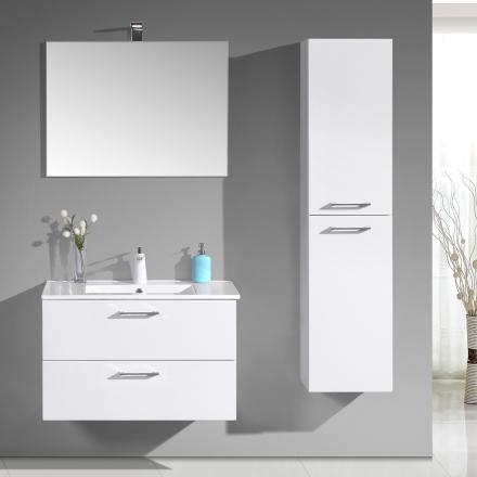 Tvättställsskåp/kommod OKH - Högglans vit - 60cm
